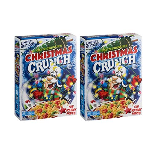 Captain Crunch-Christmas Crunch Cereal, Limited Edition, 13 oz (2 Pack) (Christmas Cold Captain)
