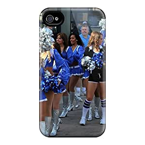 MrsSophier Fashion Protective Detroit Lions Cheerleaderss Case Cover For Iphone 4/4s