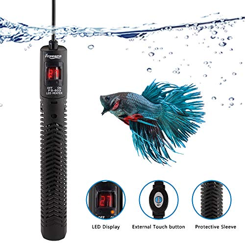 FREESEA 300W Aquarium Fish Tank Heater Protective Sleeve LED Temperature Display for 35 to 60 Gallon Tank