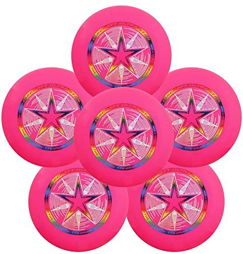 Discraft Ultra-Star 175g Ultimate Frisbee Sport Disc (6 Pack) Pink by Discraft