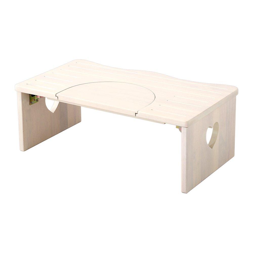 ナチュラルなトイレ子ども踏み台(29cm、木製)角を丸くしているのでお子様やキッズも安心して使えます|salita-サリタ- ホワイトウォッシュ B06Y646RLR ホワイトウォッシュ ホワイトウォッシュ