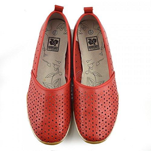 Pompe Footwear Del Kick Scarpe Rosso Dolly Donna Di Nuove Balletto Ballerina F80206 Nero Ladies Piatto Mocassini w0CxaAnxq