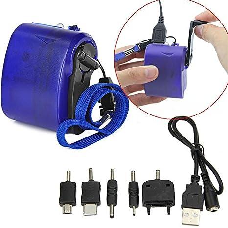 DaoRier Cargador USB de cargador de emergencia con cargador ...