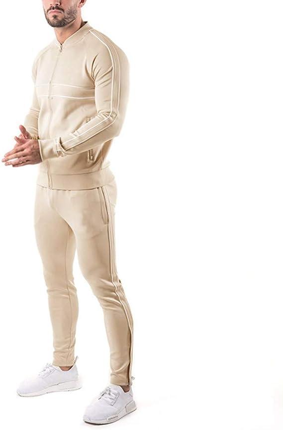 Chandal Hombre Completo, Chandal de Color Sólido de Manga Larga para Hombre Pantalón Slim Fit con Bolsillo de Sudadera Otoño Invierno: Amazon.es: Ropa y accesorios