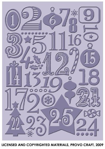 Provo Craft Cuttlebug 5-Inch by 7-Inch Embossing Folder, Christmas Countdown