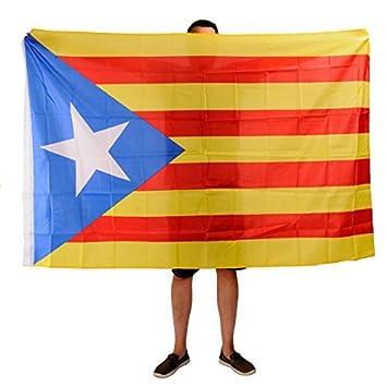 Bandera Estelada Catalana 180cm x 120cm. Bandera Catalana Independentista