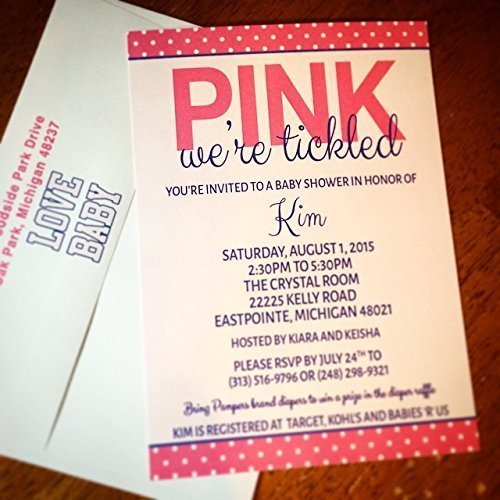 Tickled Pink Baby Shower Invitations