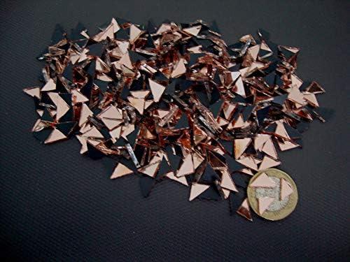 500 piezas de mosaico de oro rosa con forma de espejo 2 mm de grosor peque/ñas piezas triangulares