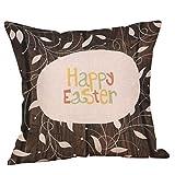 Weiliru Throw Pillow Covers Easter Motive Bunny Bottom Easter Easter Eggs Fresh Decor Pillowcases Polyester Square Hidden Zipper Home Cushion Decorative Pillowcase