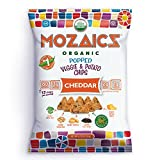 Mozaics Organic Popped Veggie & Potato Chips- Healthy snack, under 100 calories, better than veggie straws or stix – gluten free – 0.75oz single serve bags (Cheddar, 12-count) For Sale