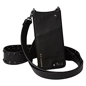 Bandolier - Angela - Black Croc - For the LARGER iPhones 8+, 7+ and 6+