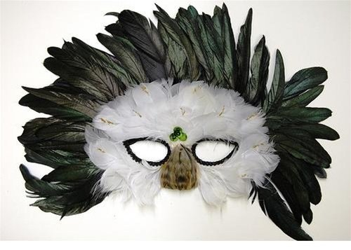 (Feather Mask M33 (Great for Masquerade, Madi Gras,)