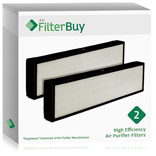 2 FilterBuy GermGuardian Filter C, Part # FLT5000 & FLT5111, Compatible HEPA Air Purifier Filters. Designed by FilterBuy to fit GermGuardian AC5000 Series Air Cleaning System.