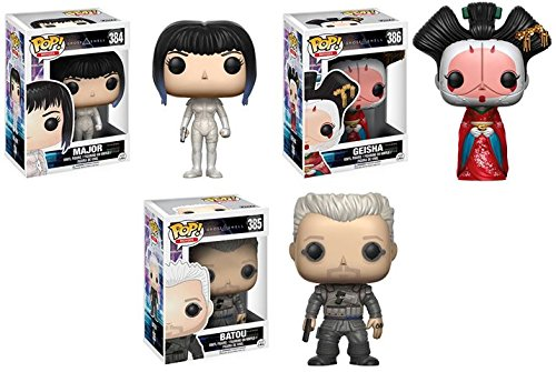 (Pop! Movies: Ghost in the Shell Major, Batou, Geisha Vinyl Figures! Set of 3)