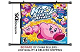kirby mass attack - Kirby Mass Attack Nintendo DS Game Fabric Wall Scroll Poster (32 x 29) Inches