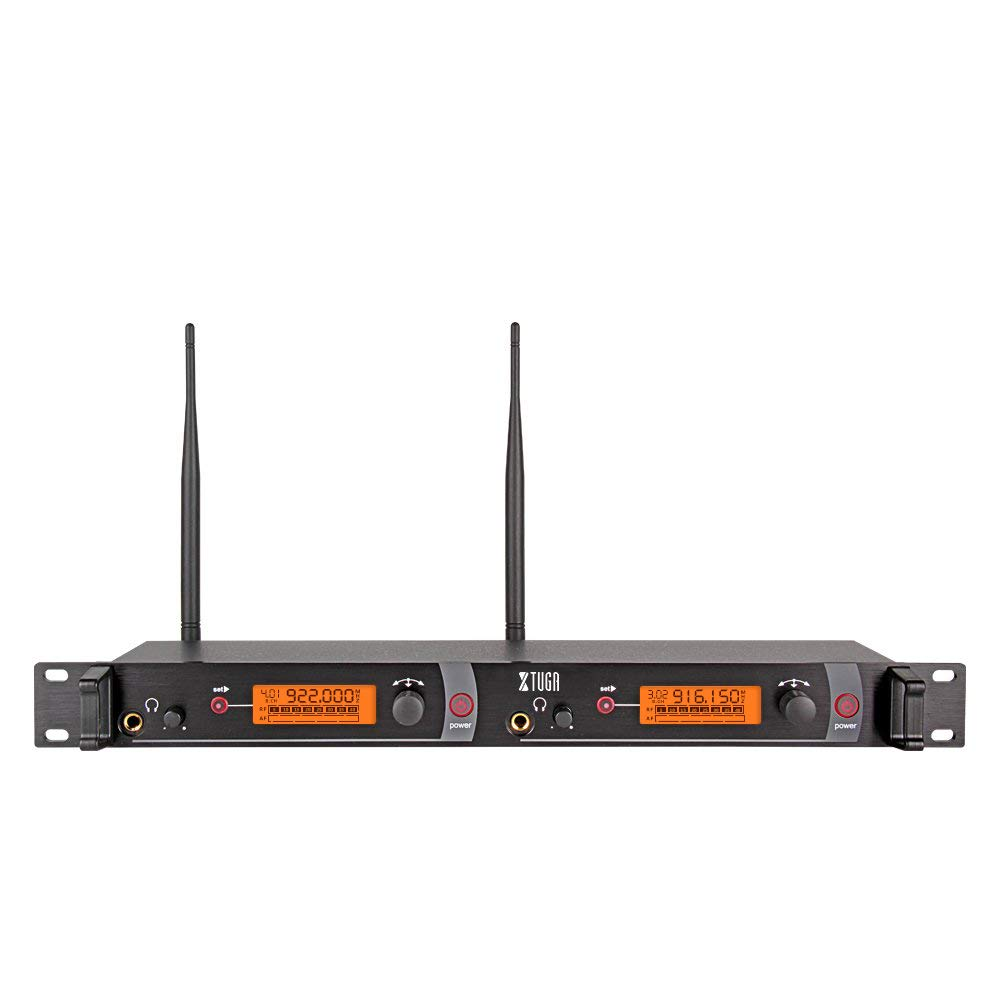 XTUGA RW2080 Rocket Audio Whole Metal Wireless in Ear Monitor System 2 Channel 5 Bodypacks Monitoring with in Earphone Wireless Type Used for Stage or Studio Frequency 902-928mhz