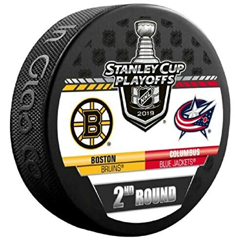 - 2019 Stanley Cup Playoffs Hockey Puck 2ND Round Bruins VS. Blue Jackets Souvenir Puck Finals PRE-Order Item - Shipping Begins April 30TH