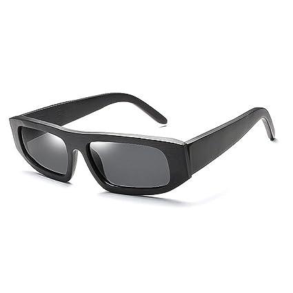 Ultra ligero para hombre Marco cuadrado de bambú de madera gafas de sol polarizadas de los