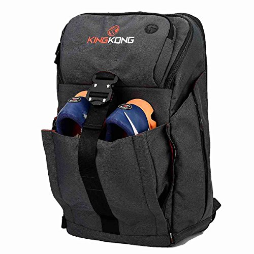 "King Kong Backpack II - Military Spec Nylon Gym Backpack with Expandable Pockets and Heavy Duty Buckles for Active Lifestyle - 20"" x 13"" x 7"" - Charcoal"