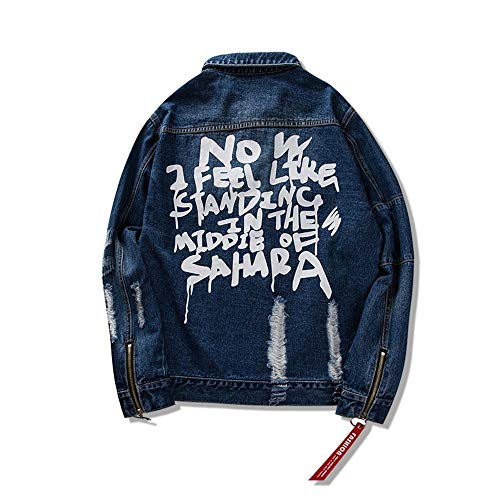 Buco Cardigan Giacca Nuovi Blue Jeans Donna Size Sciolto Hop color E Uomini Skkmall Di M Street Uomo Tendenza Punk Blue Hip xIZO4d6