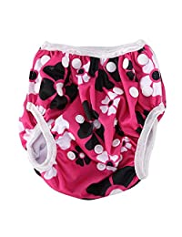 Baby Unisex Reusable Swim Diapers Summer Swimming Pool Pant with Snaps Adjustable Training Pants (Y1)
