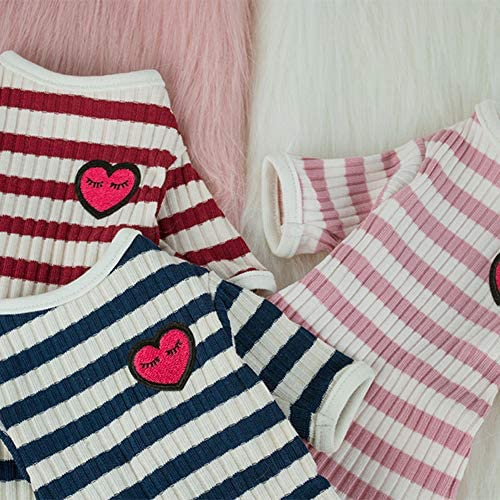 DENTRUN Hairless Cats Shirt Cat Wear Clothes Stripe Vest Best Hairless Cat's Adorable Clothes Cat's Pajamas Jumpsuit for All Season, Soft & Skin-Friendly 23