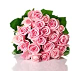 Blooms2Door 25 Pink Roses (Farm-Fresh, Long Stem - 50cm) - Farm Direct Wholesale Fresh Flowers