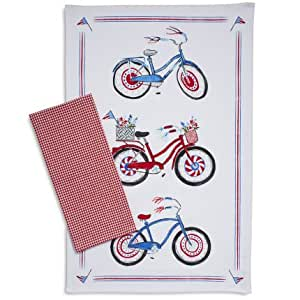 Amazon Com Sur La Table Fourth Of July Bicycle Amp Gingham