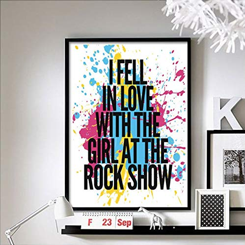 Blink 182 Band Poster I Fell in Love with The Girl at The Rock Show Music Band Poster [No Framed] Poster Home Art Wall Posters (16x24) (Blink 182 Girl At The Rock Show)