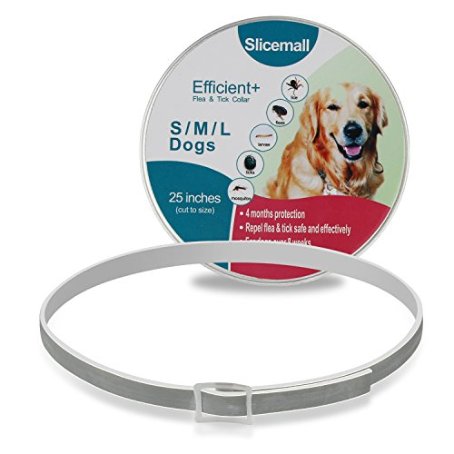 Slicemall Flea and Tick Collar, Flea Repellent Treatment, Ticks Prevention Control for Small Large Dogs(25 inches)