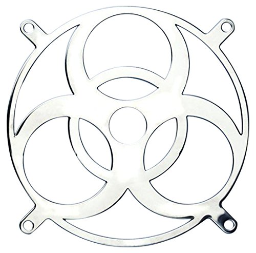 ainless steel fan grill BIOHAZARD mirror type (BP-120FGS-BIO) ()