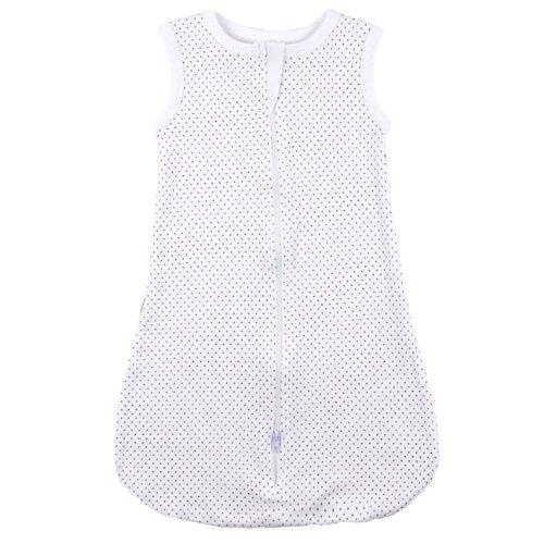 Kushies Unisex-baby Newborn Everyday Layette Sleep Blanket, White, 0-6 - Cotton Kushies Sleeper