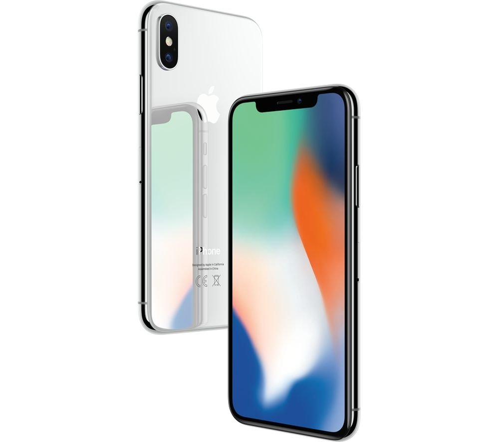 Apple iPhone X, T-Mobile, 64GB - Silver (Refurbished)