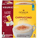 Gevalia Kaffe Cappuccina Espresso Coffee K-Cup Packs & Froth Packets, 9 count, 2.15 OZ (61g)