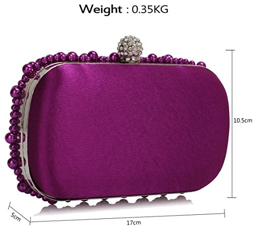 DELIVERY Gorgeous Clutch UK Purple Rhinestone SAVE 50 Beaded Pearl Bag FREE AI7nx768rw