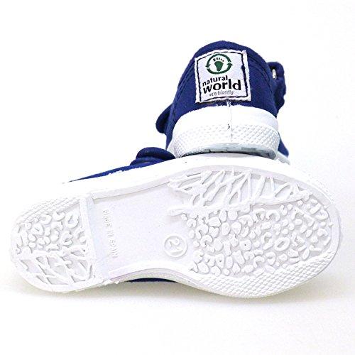 Zapatos Primeros Pasos Casual Sneakers Natural World 476 Azul