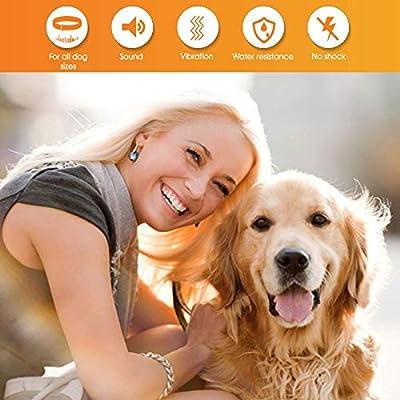 MONTAUR Dog Bark Collar - no Shock Vibration and Sound Stop Barking Collar for Dogs - 7 Level Sensitivities Anti Bark Collar - Humane Dog Barking Control Collar