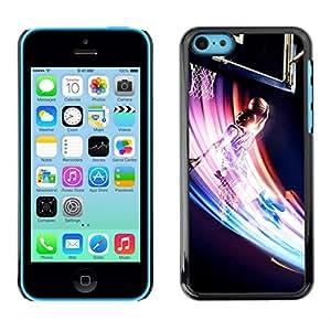 Caucho caso de Shell duro de la cubierta de accesorios de protección BY RAYDREAMMM - iPhone 5C - Baloncesto Remolino colorido