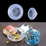 Buytra Diamond Silicone Resin Casting Molds for Epoxy Resin, Jewelry Making Earring Pendant DIY Crafts, 2 Pack