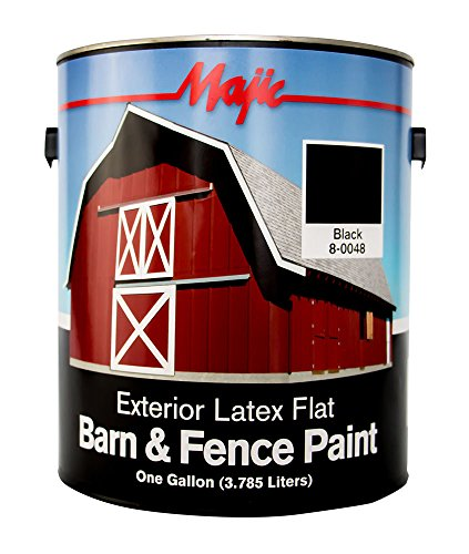 Majic Paints 8-0048-1 Exterior Latex Flat Barn and Fence ...