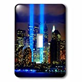 3dRose lsp_61470_1 Beautiful Photograph Of The Twin Towers 911 Memorial Lights Never Forget Single Toggle Switch