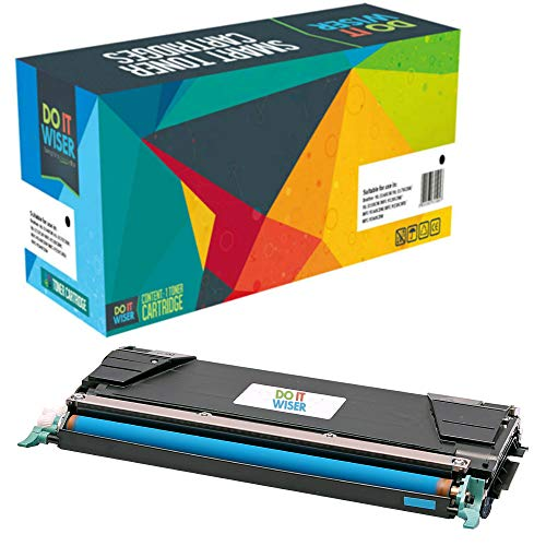 Do it Wiser Compatible C746A1CG Toner for Lexmark X746de C746 C748 X748de C748de C746dn XS748de X748 X746 C746n C748de 748de (Cyan)