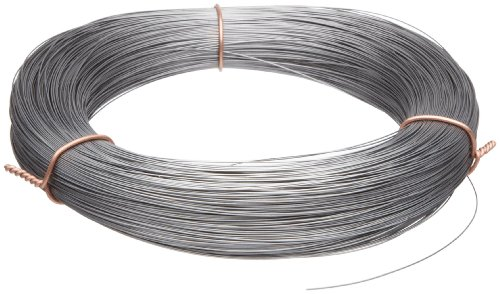 High Carbon Steel Wire, Mill Finish #2B (Smooth) Finish, Grade #2B Smooth, Full Hard Temper, Meets ASTM A228 Specifications, 0.051