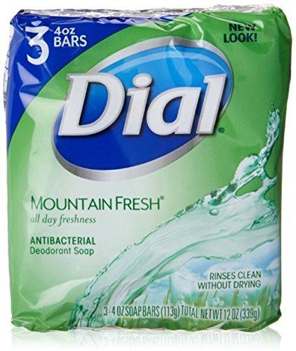 Dial Mountain Fresh Antibacterial Deodorant Bar Soap 3, 4 oz Soap