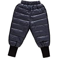 Happy Cherry - Bebé Pantalones Largos Invierno Acolchado Niños Pantalón Esquí Aire Libre Ropa Caliente Resistente Viento…