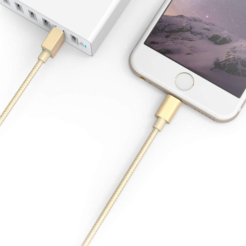 Colore Nero iPad Air 2 Mini 3 Anker Cavo In Nylon Lightning a USB da 1.8 m per Apple iPhone 6S // 6S Plus // SE // 6 // 6 Plus // 5S // 5C // 5 iPod Touch Nano e altri