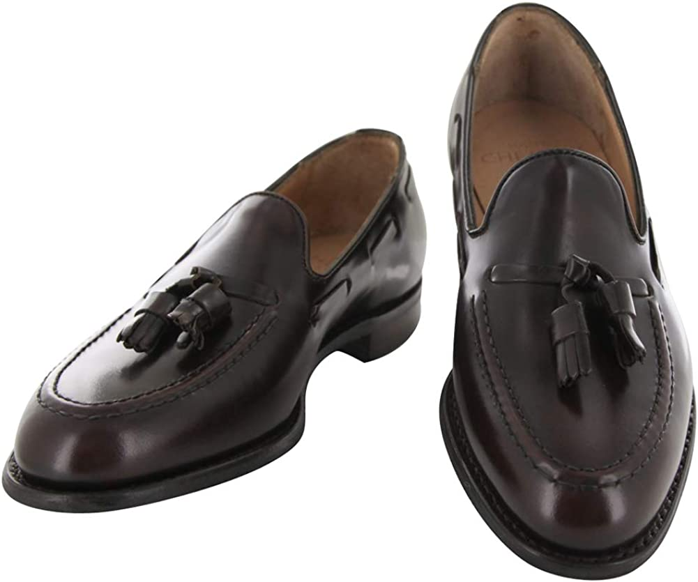 Sons Dark Brown Leather Tassel Loafers