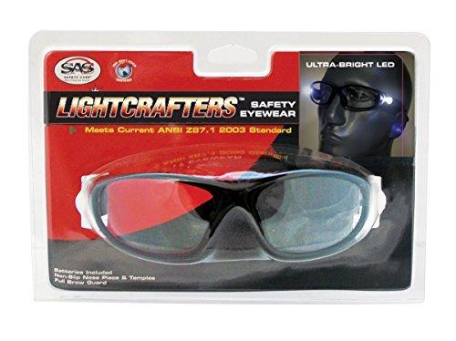 SAS Safety 5420-25 LED Inspectors Readers Safety Glasses, Bl