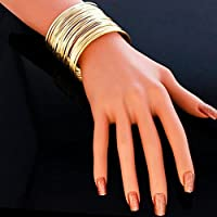 AutumnFall(TM) Fashion Womens Exaggerated Gypsy Plated gold bangles jewelry (Gold)