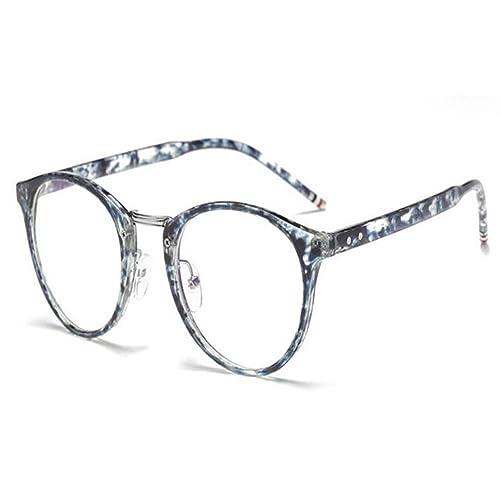 Hzjundasi Luz azul Filtrar Gafas Vintage Lente clara Lector Computadora Hombres/Mujer Anti-fatiga